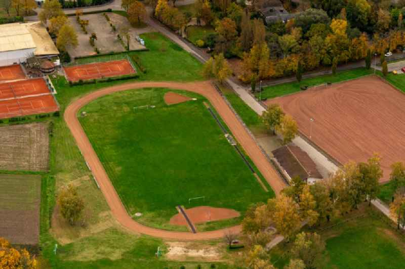 Sports grounds and football pitch in Meissenheim in the state Baden-Wurttemberg, Germany