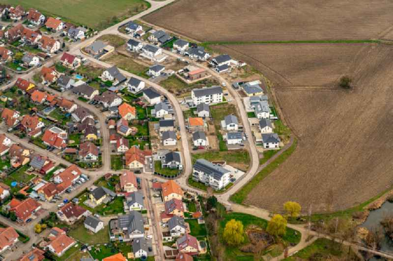Single-family residential area of settlement Neubaugebiet in Meissenheim in the state Baden-Wurttemberg, Germany