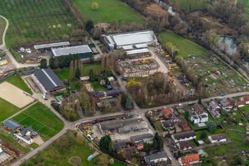 Company grounds and facilities of ' Zuercher Bau GmbHGleisbau ' in Meissenheim in the state Baden-Wurttemberg, Germany