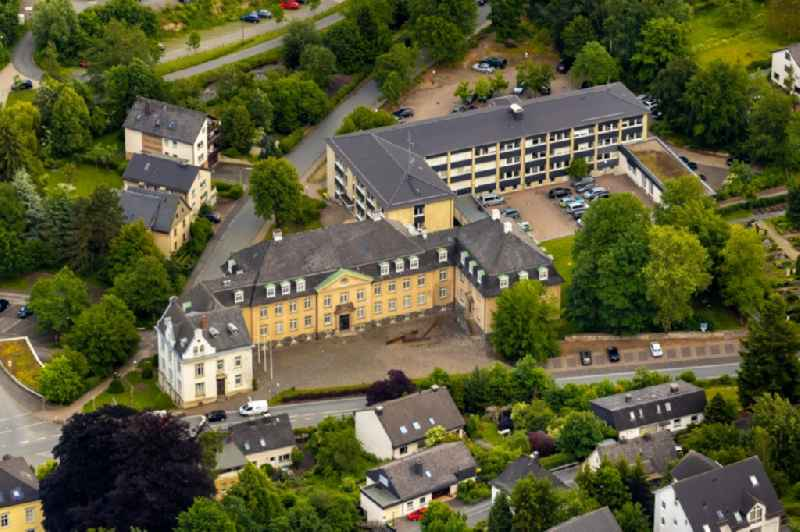 Court- Building complex of the ' Amtsgericht Meschede ' on Steinstrasse in Meschede in the state North Rhine-Westphalia, Germany