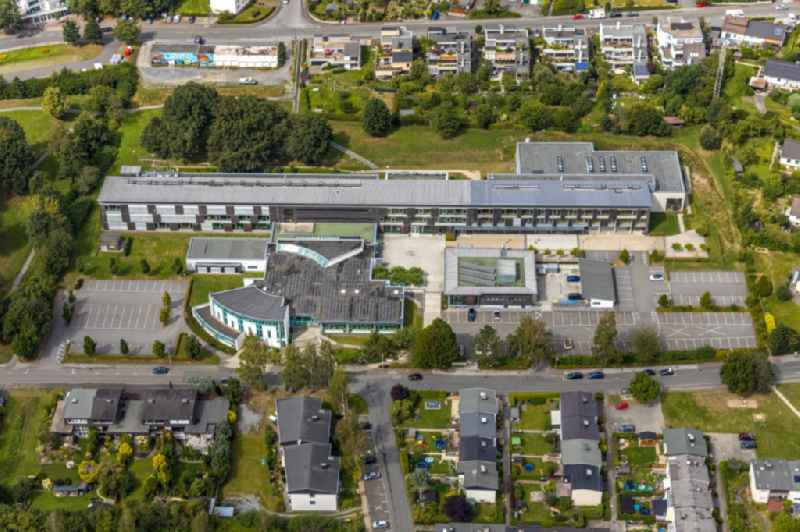 Campus building of the University of Applied Sciences 'Fachhochschule Suedwestfalen' on Lindenstrasse in Meschede in the state North Rhine-Westphalia, Germany
