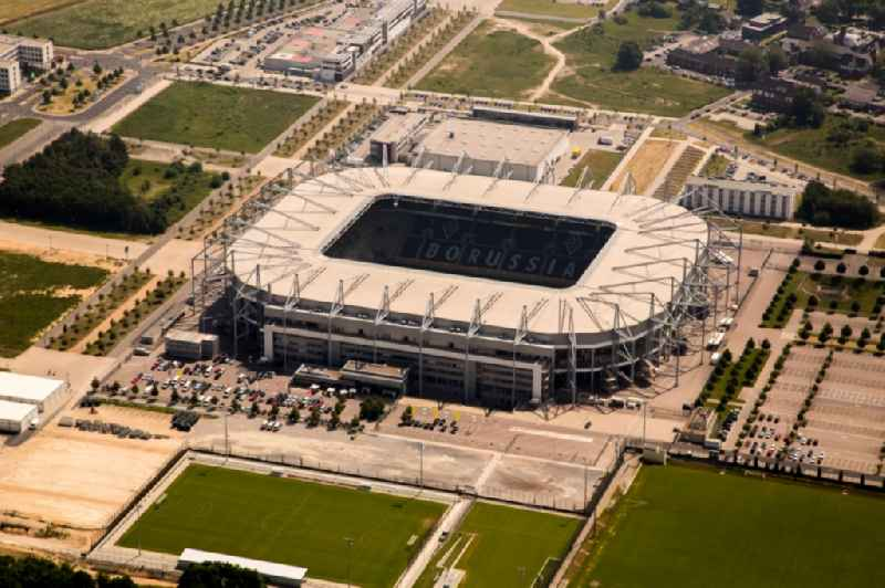 Sports facility grounds of the Arena stadium  BORUSSIA-PARK in Moenchengladbach in the state North Rhine-Westphalia, Germany
