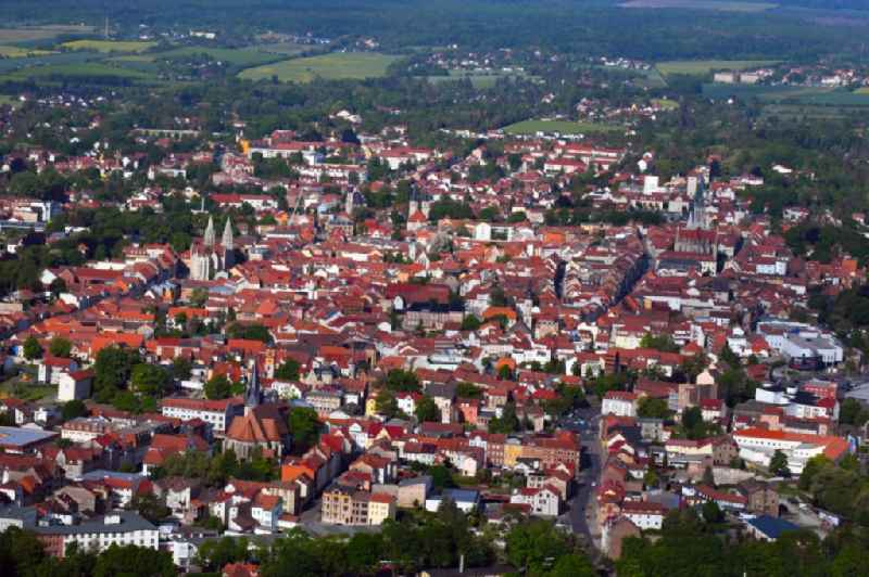 City view on down town in Muehlhausen in the state Thuringia, Germany