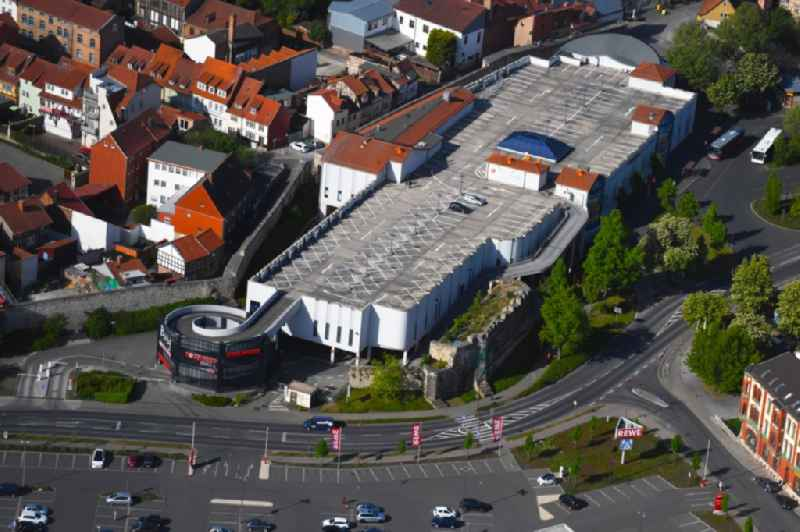 Building of the shopping center ' Burggalerie Muehlhausen ' in Muehlhausen in the state Thuringia, Germany