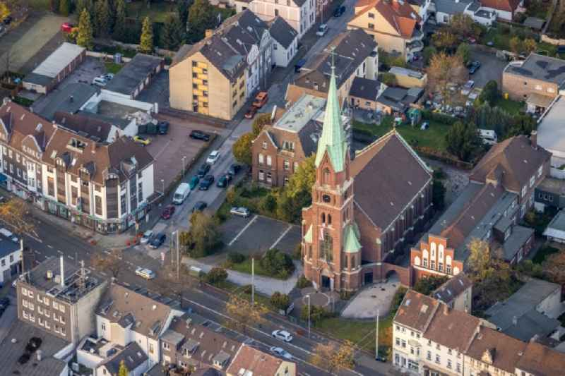 Church building of 'Lutherkirche' on Duisburger Strasse in Muelheim on the Ruhr in the state North Rhine-Westphalia, Germany