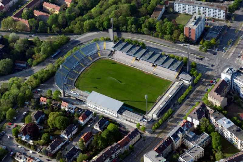 Football stadium of the club TSV 1860 on Gruenwalder Strasse in the district Untergiesing-Harlaching in Munich in the state Bavaria