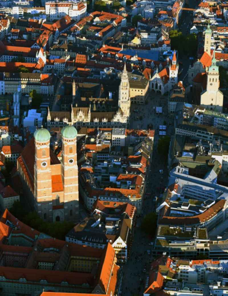 Church building of the Frauenkirche in the old town in Munich in the state Bavaria, Germany