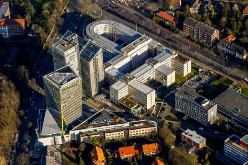 Office and administration buildings of the insurance company LVM Versicherung - Zentrale on Kolde-Ring in the district Aaseestadt in Muenster in the state North Rhine-Westphalia, Germany
