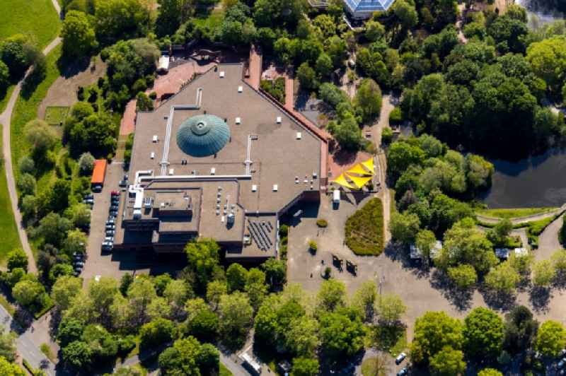 Museum building ensemble of 'LWL-Museum fuer Naturkunde Westfaelisches Landesmuseum mit Planetarium' on Sentruper Strasse in Muenster in the state North Rhine-Westphalia, Germany