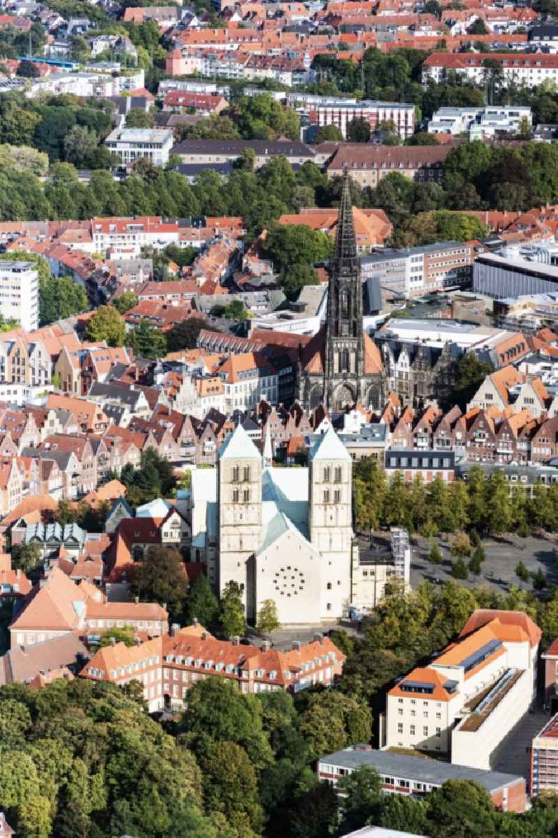 Old Town area and city center in Muenster in the state North Rhine-Westphalia, Germany