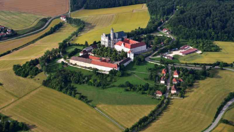 Complex of buildings of the monastery Abtei Benediktinerkloster  in Neresheim in the state Baden-Wuerttemberg, Germany