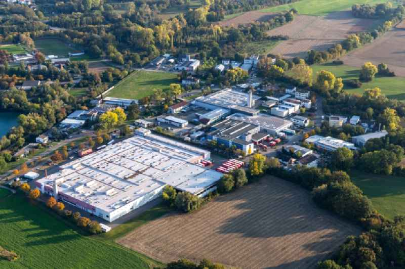 Building and production halls on the premises of Coca-Cola European Partners Deutschland GmbH in Neureut in the state Baden-Wuerttemberg, Germany