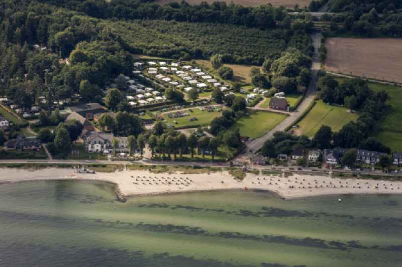 Camping with caravans and tents in Neustadt in the state Schleswig-Holstein
