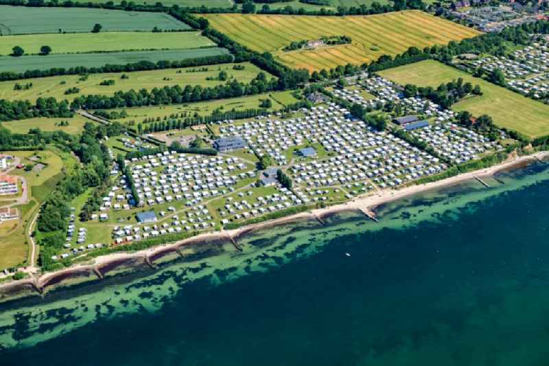 Camping with caravans and tents in Neustadt in Holstein in the state Schleswig-Holstein