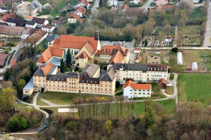 Building complex of the former monastery and today  Realschule St. Maria in Niederviehbach in the state Bavaria, Germany.