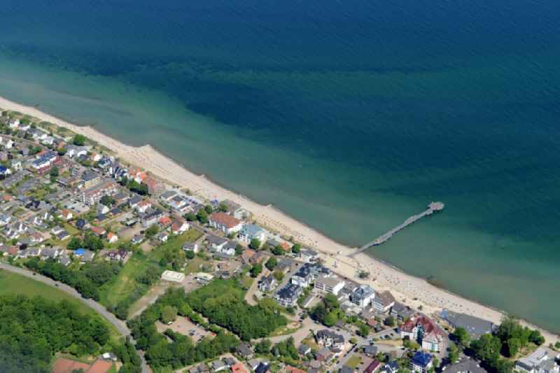 Townscape on the seacoast of Baltic Sea in Niendorf/Ostsee in the state Schleswig-Holstein