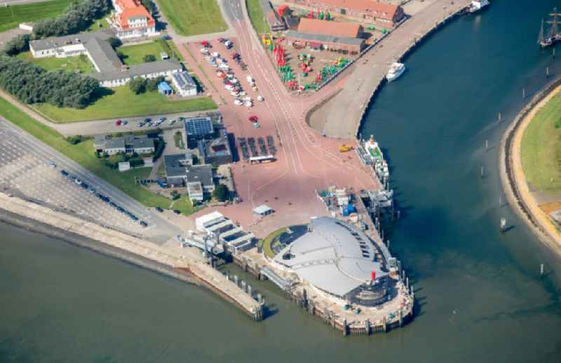 Ferry-station in Norderney in the state Lower Saxony, Germany
