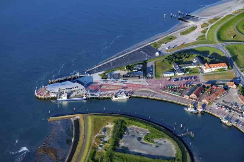 Port facilities of the East Frisian island of Norderney in Lower Saxony island Norderney in the state Lower Saxony