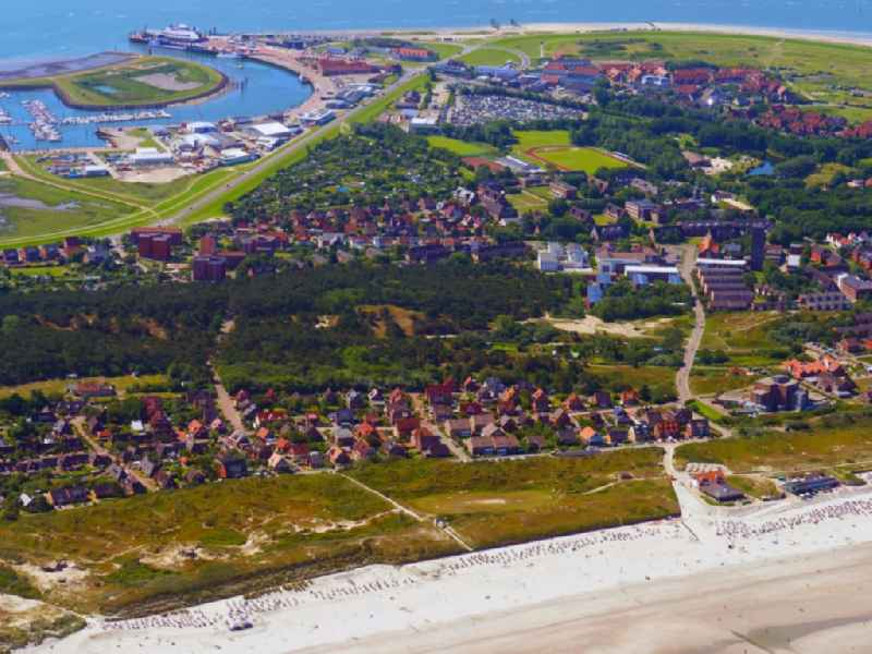 Outskirts residential the North Sea island Norderney in the state Lower Saxony, Germany