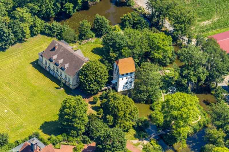 Building and manor house of the farmhouse of the 'Bispinghof' of the 'Buergerstiftung Bispinghof Nordwalde' in Nordwalde in the state North Rhine-Westphalia, Germany