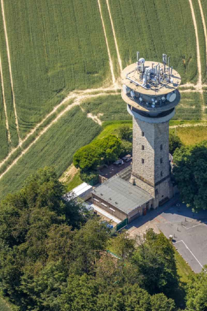 Structure of the observation tower of Longinusturm on Baumberg in the district Baumberg in Nottuln in the state North Rhine-Westphalia, Germany
