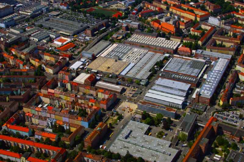 Building and production halls on the premises of SIEMENS AG in the district Gugelstrasse in Nuremberg in the state Bavaria, Germany