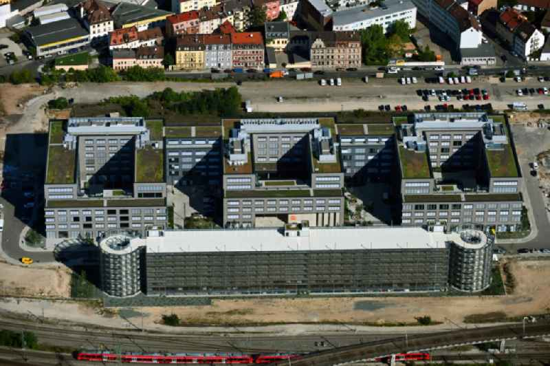 New office and commercial building ' Orange Campus ' on Kohlenhofstrasse in Nuremberg in the state Bavaria, Germany