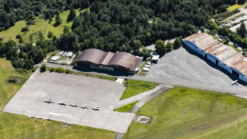 Hangar equipment and aircraft hangars for aircraft maintenance in Oberschleissheim in the state Bavaria, Germany
