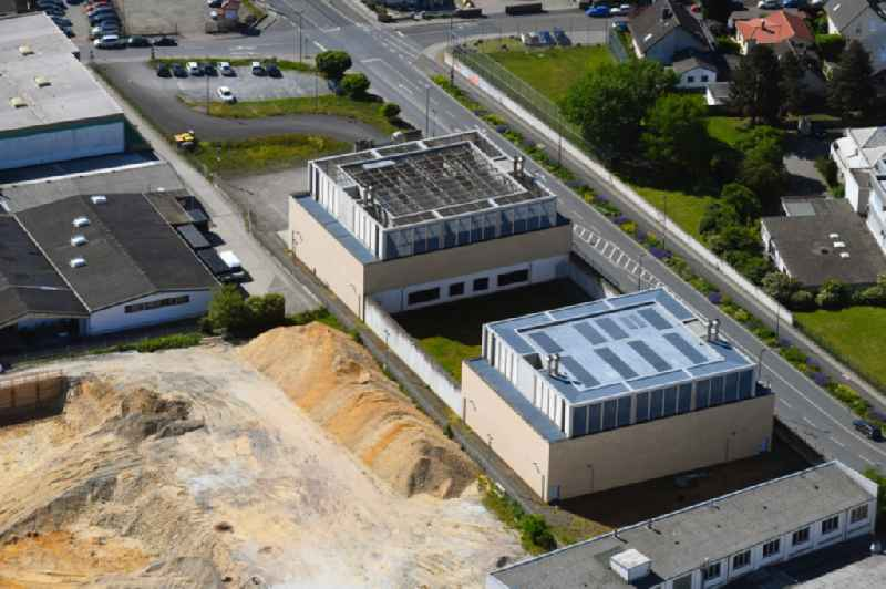 Development area and building land fallow at the IBM Datacenter on Gablonzer Strasse in the district Weisskirchen in Oberursel (Taunus) in the state Hesse, Germany