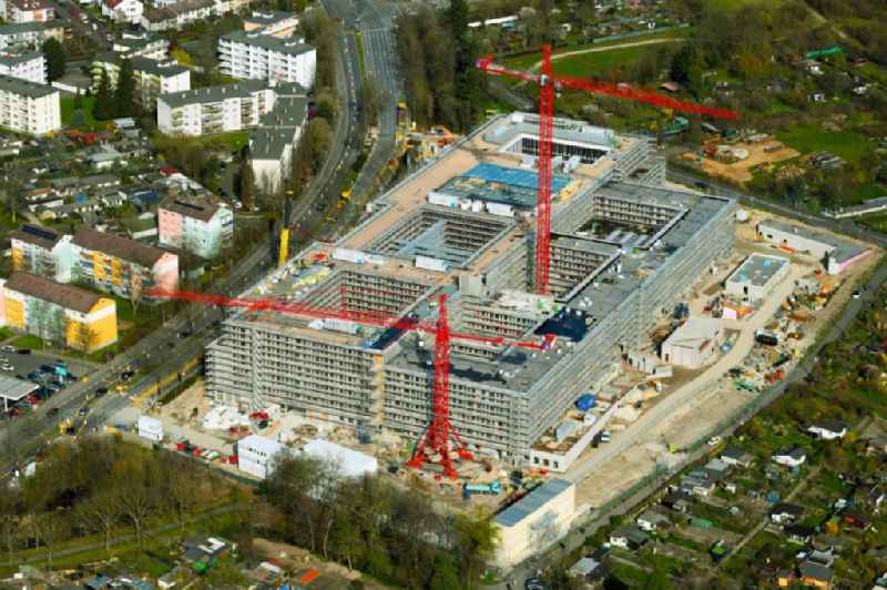 Construction site for the new police building complex Polizeipraesidium Suedosthessen on Spessartring in Offenbach am Main in the state Hesse, Germany