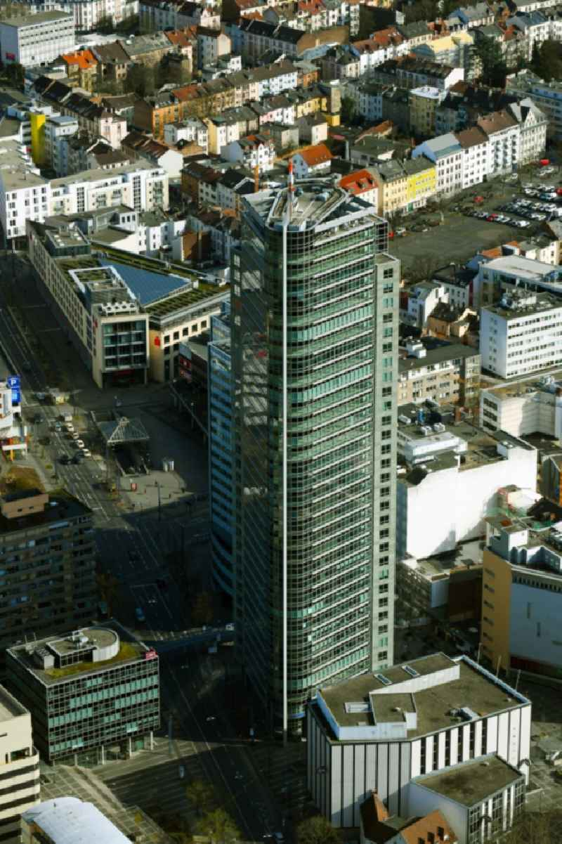 Office and corporate management high-rise building ' City Tower ' in Offenbach am Main in the state Hesse, Germany