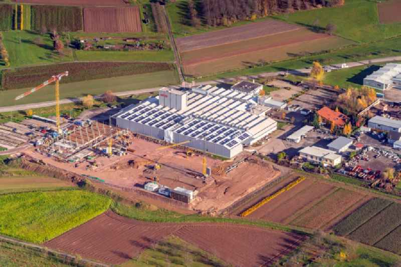 Construction site for the new building Fitmengelaende WTO in Ohlsbach in the state Baden-Wurttemberg, Germany