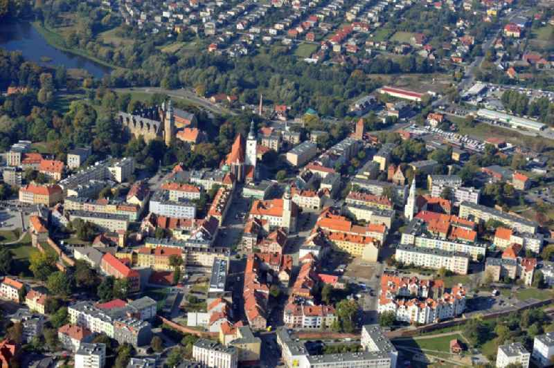 Cityscape of Olesnica in Lower Silesia in Poland