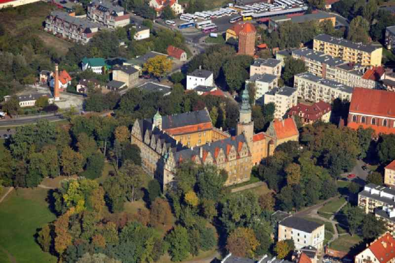View on the castle Oels, which is considered the most beautiful and most important secular construction of the Renaissance in all of Silesia