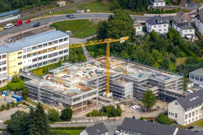 Construction for the reconstruction of Berufskolleg in Olsberg in the state North Rhine-Westphalia, Germany