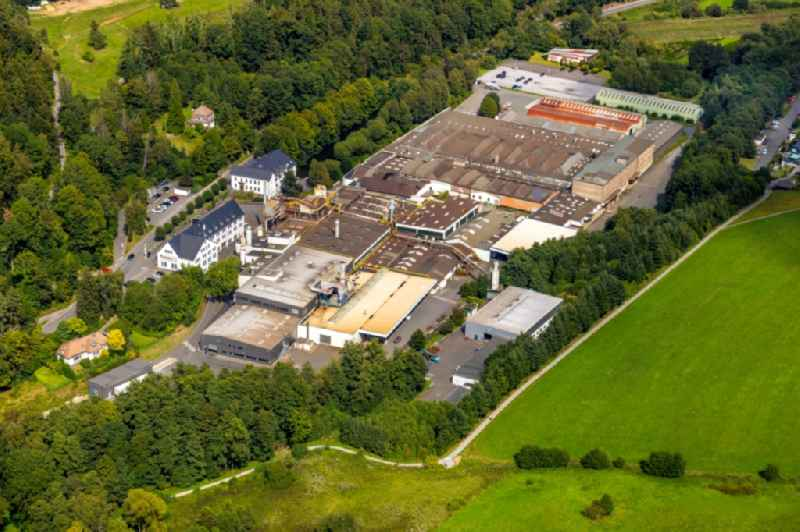 Building and production halls on the premises of Olsberg GmbH in Olsberg in the state North Rhine-Westphalia, Germany