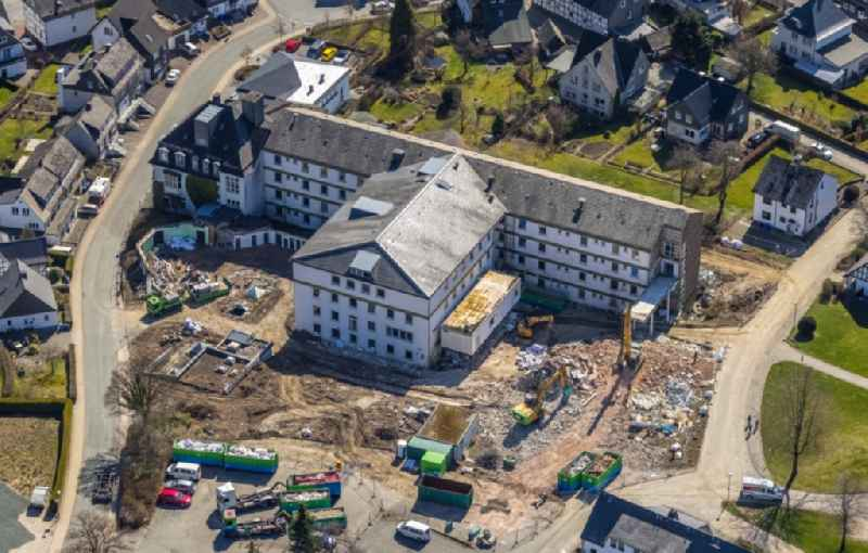 Demolition and dismantling of the ' Schwesternwohnheim ' in Olsberg at Sauerland in the state North Rhine-Westphalia, Germany