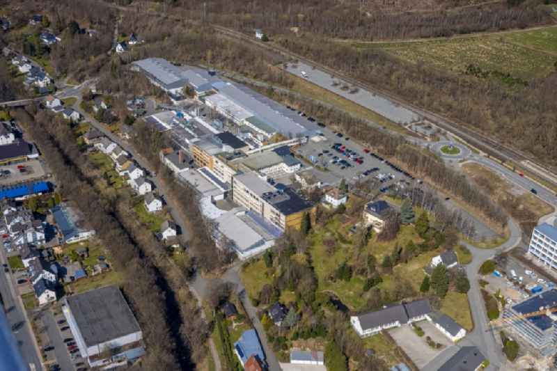 Building and production halls on the premises on Paul-Oventrop-Strasse in the district Bigge in Olsberg at Sauerland in the state North Rhine-Westphalia, Germany