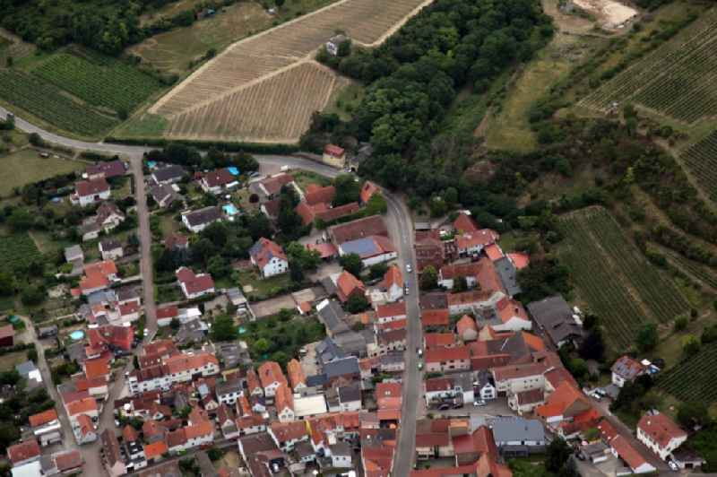 Old Town area and city center in Osthofen in the state Rhineland-Palatinate, Germany