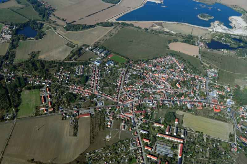 Town View of the streets and houses of the residential areas in Parey in the state Saxony-Anhalt, Germany