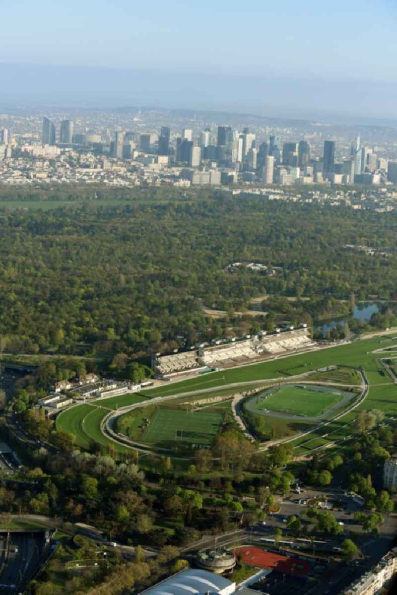 Racetrack racecourse - trotting  Hippodrome Auteuil on Route d'Auteuil aux Lacs in Paris in Ile-de-France, France