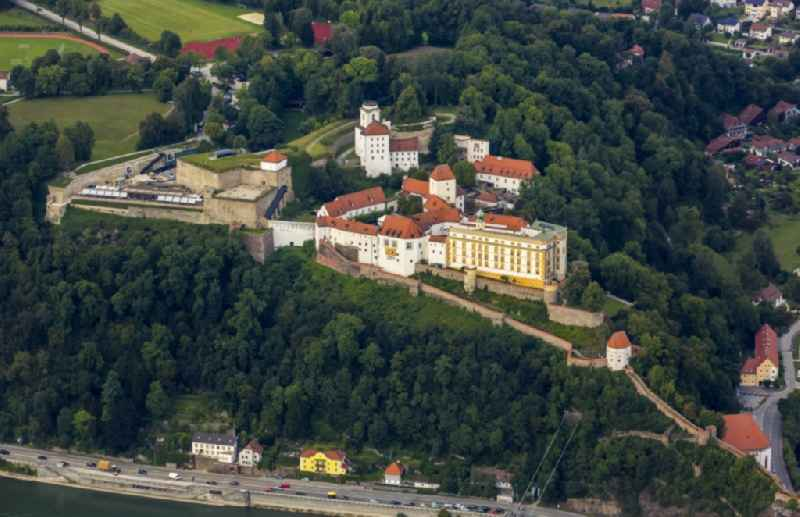 Fortress of the Veste Oberhaus on the banks of Danube and Ilz in Passau in Bavaria