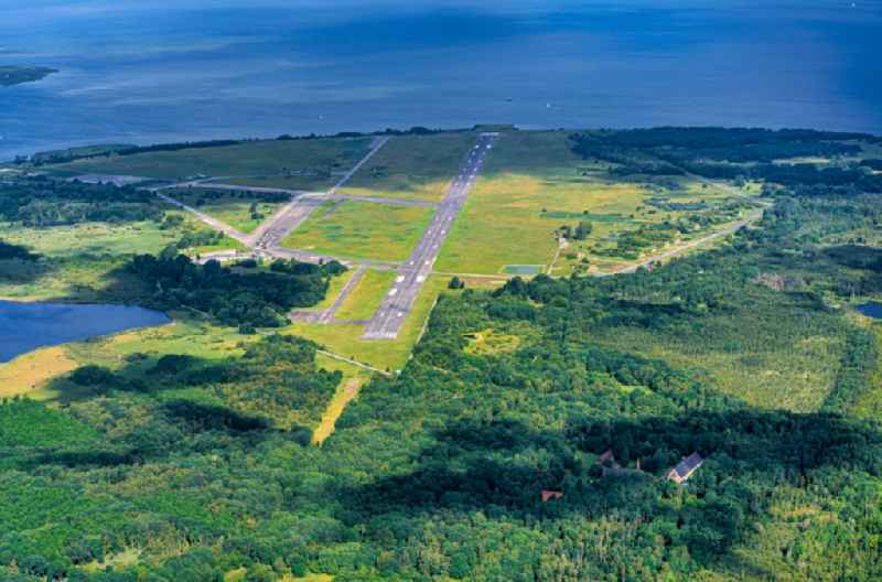 Site of the airfield Peenemunde on the Baltic coast of the island of Usedom in Mecklenburg-Western Pomerania