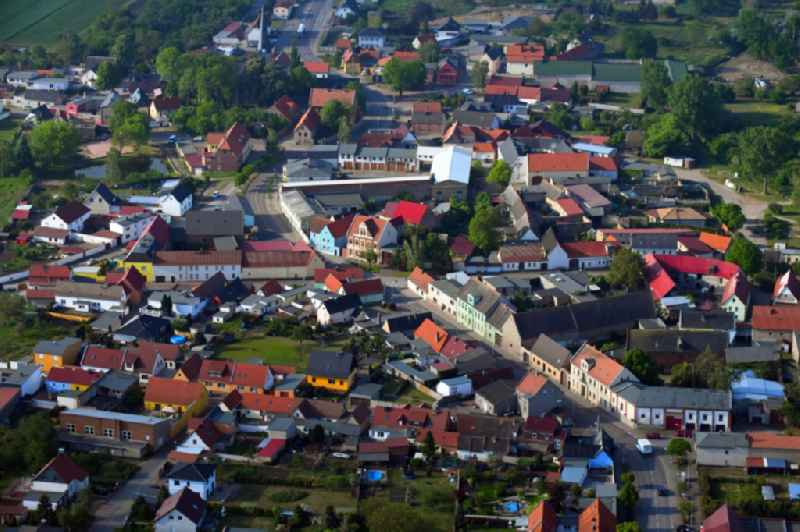 Town View of the streets and houses of the residential areas in Peissen in the state Saxony-Anhalt, Germany