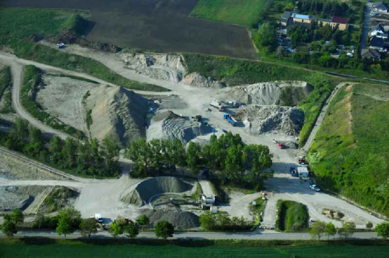 Quarry for the mining and handling of Claystone of Peissener Tonprodukte GmbH + Co KG in Peissen in the state Saxony-Anhalt, Germany