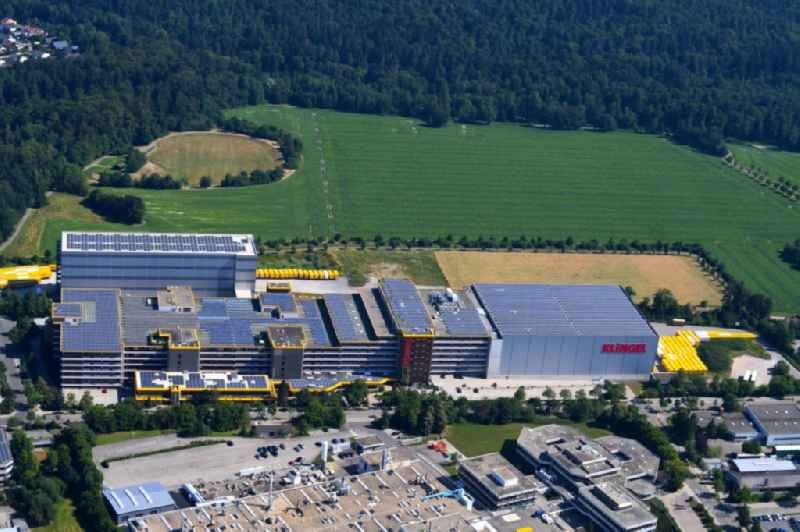 High-bay warehouse building complex and logistics center on the premises KLINGEL in Pforzheim in the state Baden-Wurttemberg, Germany