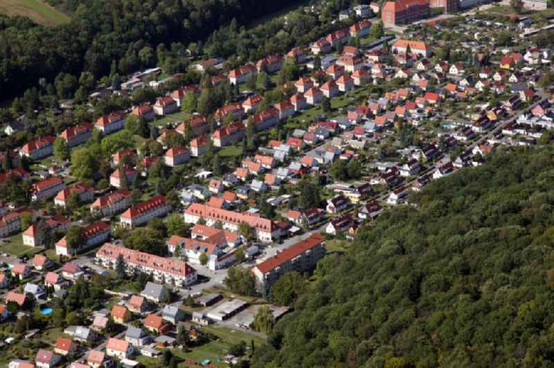 Outskirts residential in the district Suedvorstadt in former military barracks in Pirna in the state Saxony, Germany