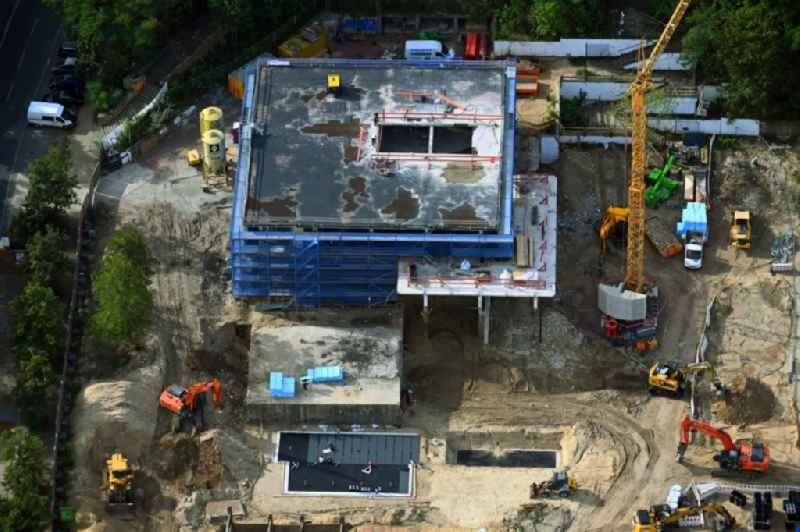 Construction site of museum building ensemble on Max-Planck-Strasse in the district Suedliche Innenstadt in Potsdam in the state Brandenburg, Germany
