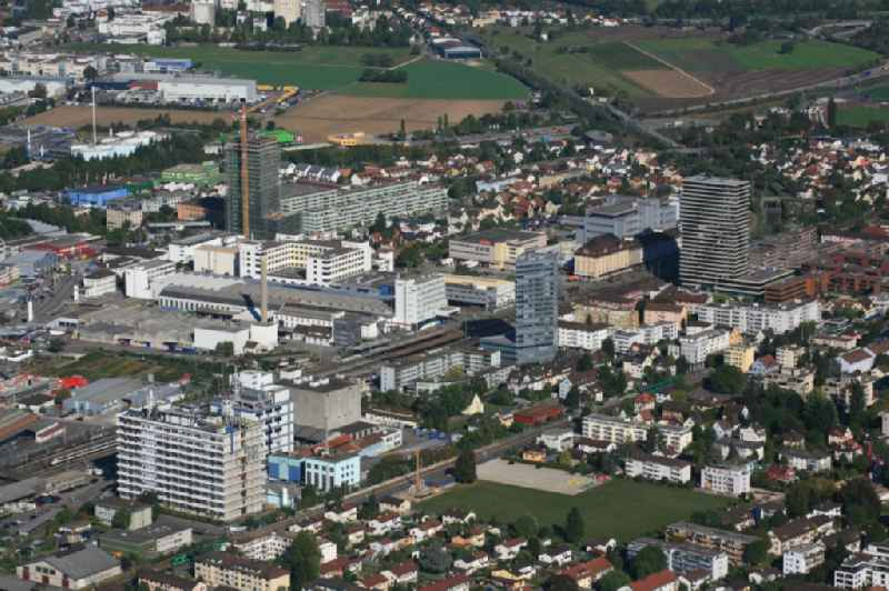 City view of the city area of in Pratteln in Basel-Landschaft, Switzerland