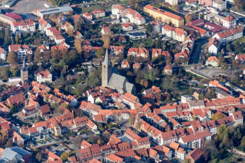Old Town area and city center in Quedlinburg in the state Saxony-Anhalt, Germany.